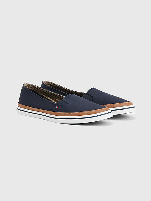 TOMMY HILFIGER Contrast Trim Slip-On Trainers - MIDNIGHT - TOMMY HILFIGER Best Sellers - main image