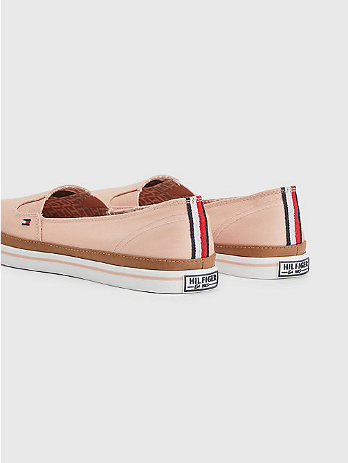 TOMMY HILFIGER Contrast Trim Slip-On Trainers - DUSTY ROSE - TOMMY HILFIGER Best Sellers - detail image 1