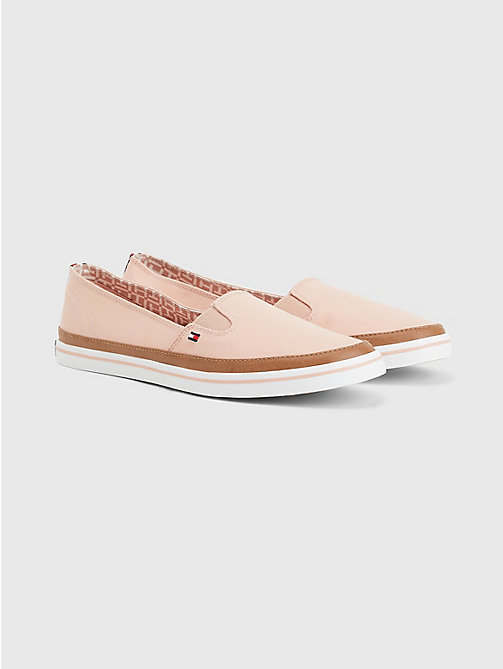 TOMMY HILFIGER Contrast Trim Slip-On Trainers - DUSTY ROSE - TOMMY HILFIGER Best Sellers - main image