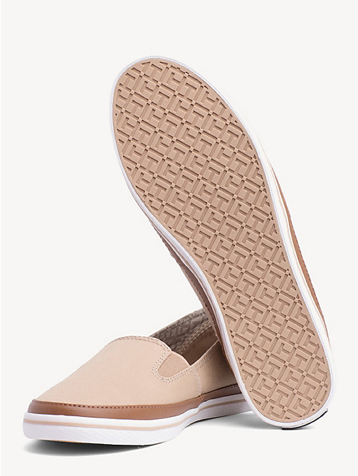 TOMMY HILFIGER Contrast Trim Slip-On Trainers - DESERT SAND - TOMMY HILFIGER Best Sellers - detail image 1