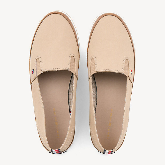 TOMMY HILFIGER Sneakers slip on con finitura a contrasto - WHISPER WHITE - TOMMY HILFIGER Donne - dettaglio immagine 3