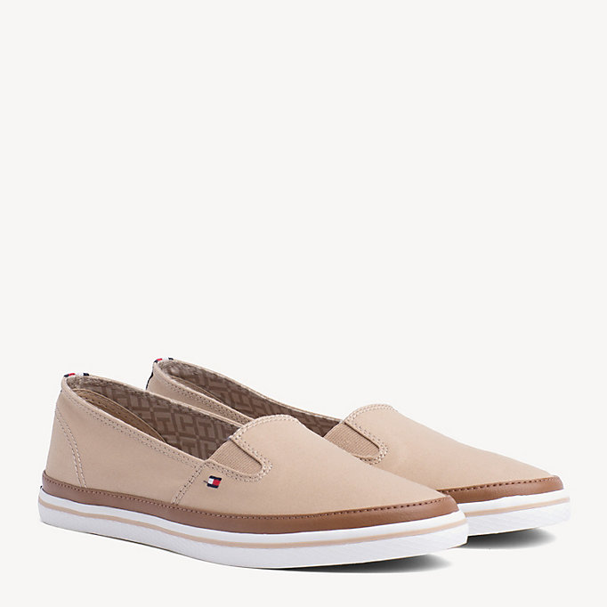 TOMMY HILFIGER Contrast Trim Slip-On Trainers - WHISPER WHITE - TOMMY HILFIGER Women - main image