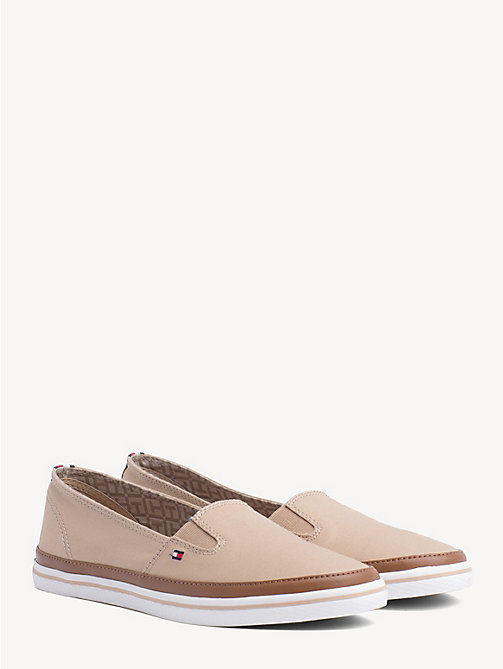 TOMMY HILFIGER Contrast Trim Slip-On Trainers - DESERT SAND - TOMMY HILFIGER Best Sellers - main image