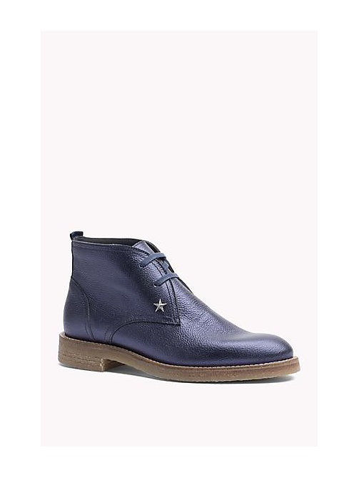 TOMMY HILFIGER Metallic Leather Ankle Boot - MIDNIGHT - TOMMY HILFIGER Shoes - main image