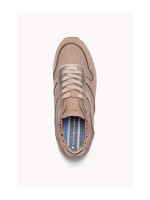 TOMMY HILFIGER Leather Lace-Up Sneaker - BURNT STONE - TOMMY HILFIGER Shoes - detail image 1