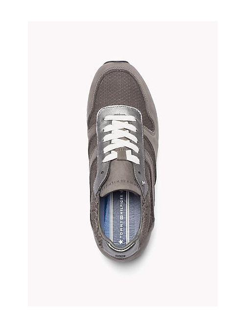 TOMMY HILFIGER Leather Lace-Up Sneaker - URBAN GREY - TOMMY HILFIGER Shoes - detail image 1