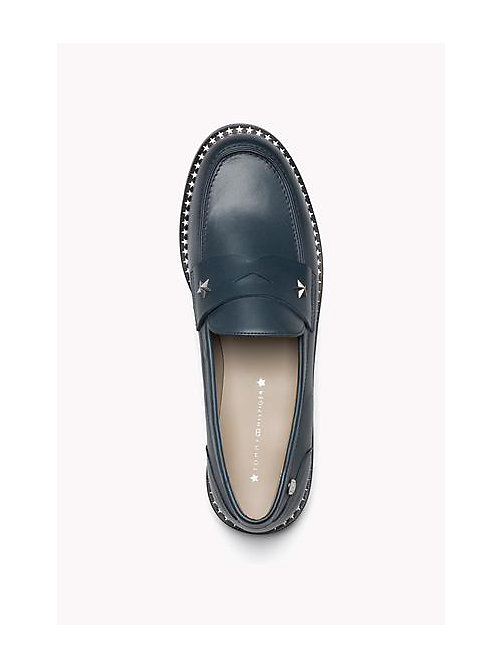 TOMMY HILFIGER Leather Loafers - SEATTLE BLUE - TOMMY HILFIGER Shoes - detail image 1