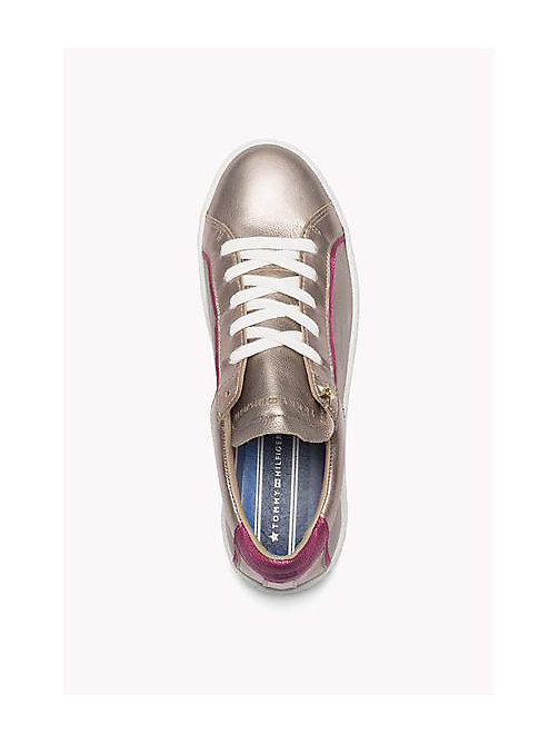 TOMMY HILFIGER Metallic Leather Sneaker - CANDY - ROSE GOLD - SAND - TOMMY HILFIGER Shoes - detail image 1