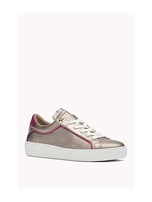 TOMMY HILFIGER Metallic Leather Sneaker - CANDY - ROSE GOLD - SAND - TOMMY HILFIGER Shoes - main image