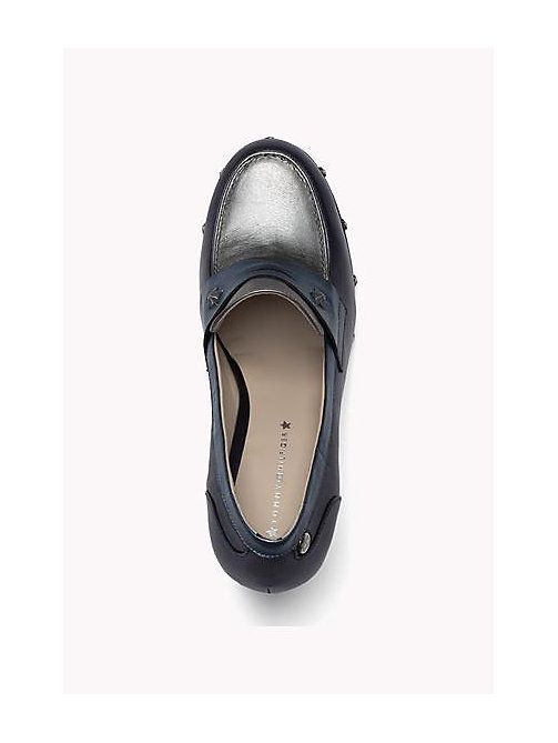 TOMMY HILFIGER Two-Tone Leather Pumps - MIDNIGHT - TOMMY HILFIGER Shoes - detail image 1