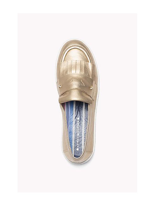 TOMMY HILFIGER Metallic Leather loafers - LIGHT GOLD - TOMMY HILFIGER Shoes - detail image 1