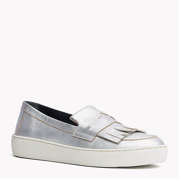 TOMMY HILFIGER Leder-Loafers in Metallic-Optik - LIGHT GOLD - TOMMY HILFIGER Schuhe - main image