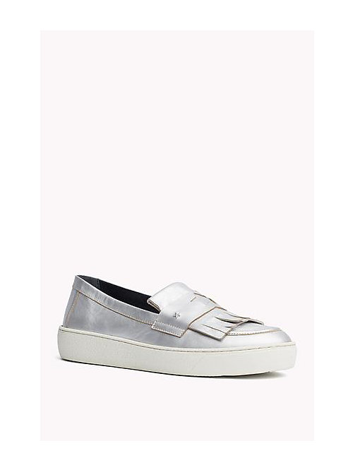 TOMMY HILFIGER Metallic Leather loafers - LIGHT SILVER - TOMMY HILFIGER Shoes - main image