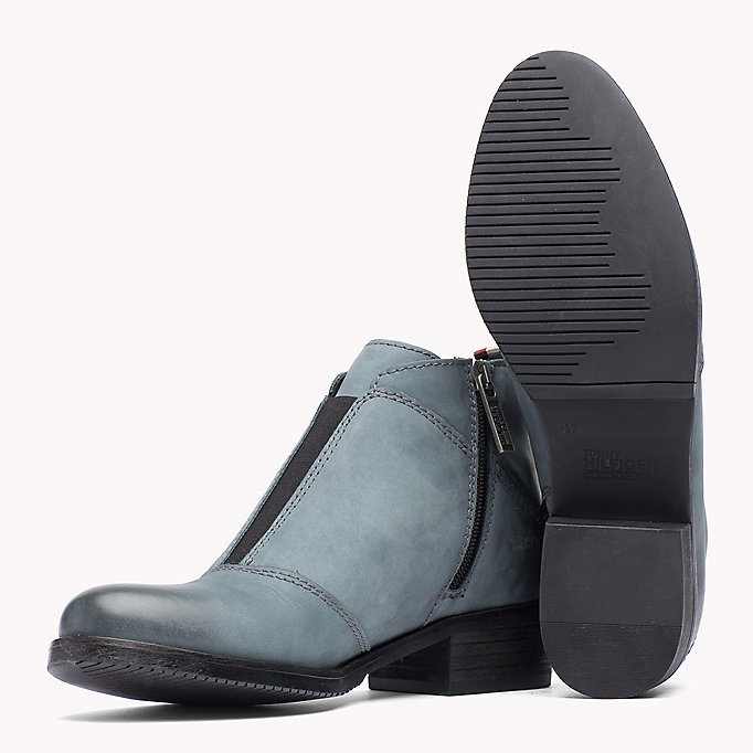 TOMMY JEANS Nubuck Ankle Boot - BLACK - TOMMY JEANS Shoes - detail image 1