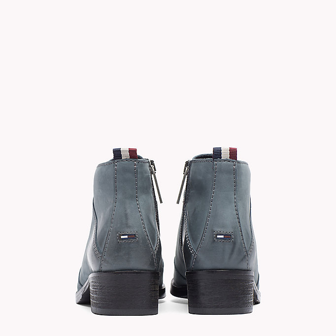 TOMMY JEANS Nubuck Ankle Boot - BLACK - TOMMY JEANS Shoes - detail image 2
