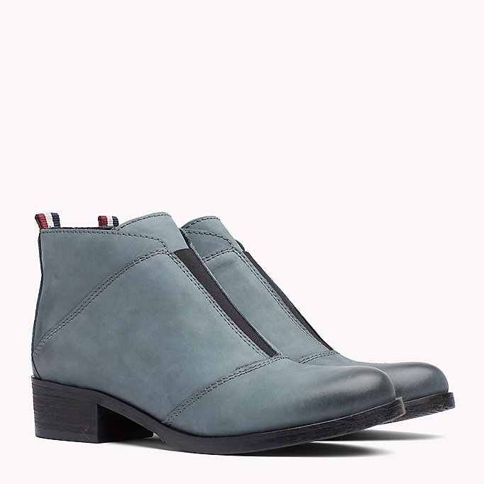 TOMMY JEANS Nubuck Ankle Boot - BLACK - TOMMY JEANS Shoes - main image