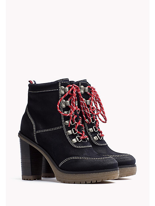 TOMMY JEANS Suede Ankle Boot - MIDNIGHT - TOMMY JEANS Shoes - main image