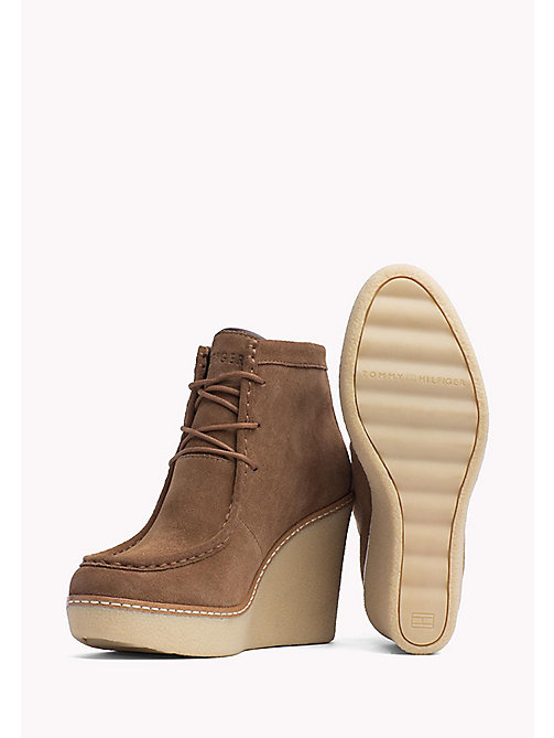 TOMMY HILFIGER Wedge Ankle Boot - WINTER COGNAC - TOMMY HILFIGER Shoes - detail image 1