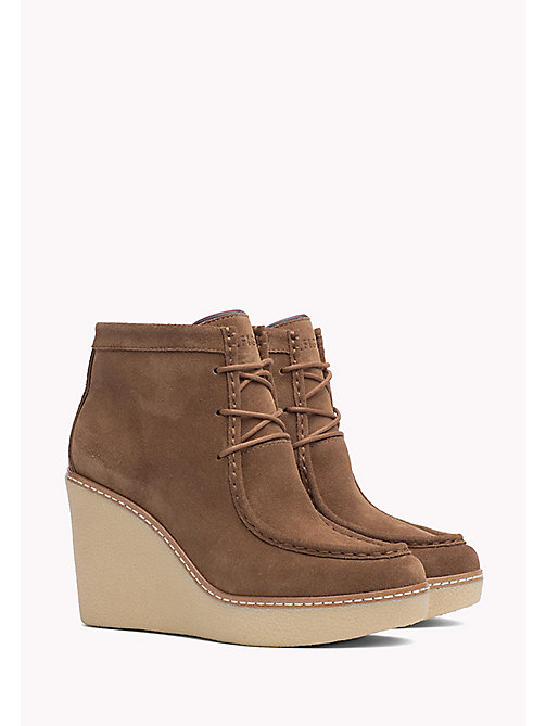 TOMMY HILFIGER Wedge Ankle Boot - WINTER COGNAC - TOMMY HILFIGER Shoes - main image
