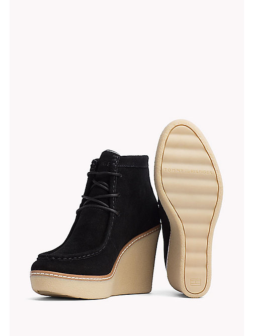 TOMMY HILFIGER Wedge Ankle Boot - BLACK - TOMMY HILFIGER Shoes - detail image 1