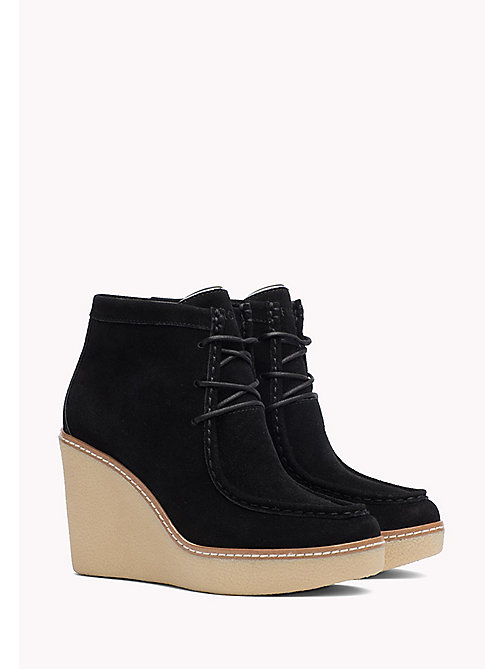 TOMMY HILFIGER Wedge Ankle Boot - BLACK - TOMMY HILFIGER Shoes - main image