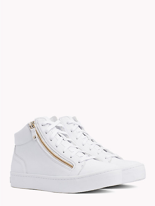 TOMMY HILFIGER High-Top Retro Trainers - WHITE -  Trainers - main image