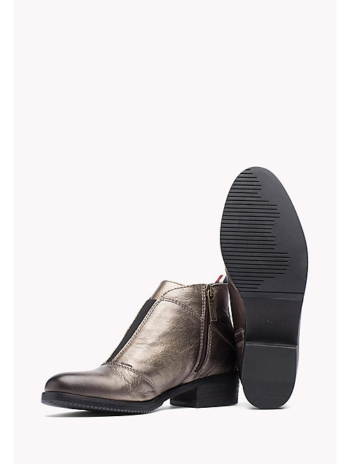 TOMMY JEANS Metallic Leather Ankle Boot - DARK GOLD - TOMMY JEANS Shoes - detail image 1