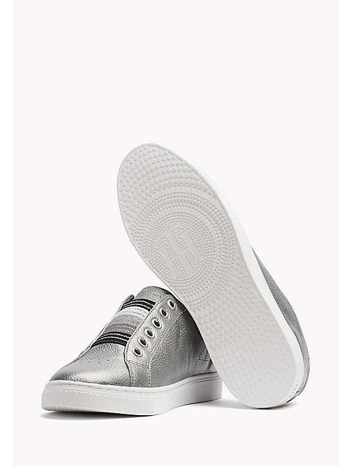cfd6035a ... main image TOMMY HILFIGER Metallic Leather Sneaker - DARK SILVER - TOMMY  HILFIGER Sneakers - detail image 1 ...