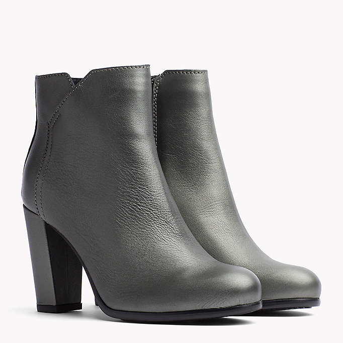 TOMMY JEANS Metallic Leather Ankle Boot - DARK GOLD - TOMMY JEANS Shoes - main image