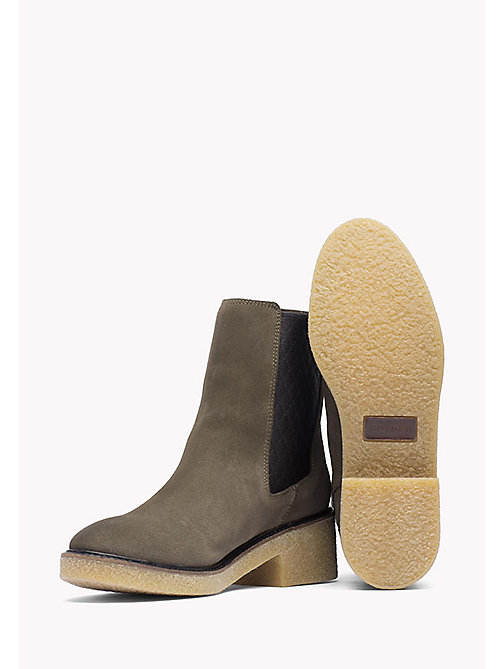 TOMMY HILFIGER Suede Ankle Boot - MUSK - TOMMY HILFIGER Shoes - detail image 1