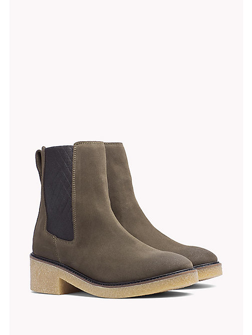 TOMMY HILFIGER Suede Ankle Boot - MUSK - TOMMY HILFIGER Shoes - main image
