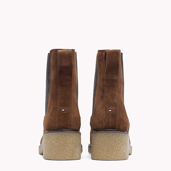 TOMMY HILFIGER Suede Ankle Boot - MUSK - TOMMY HILFIGER Shoes - detail image 2
