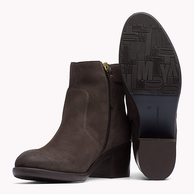 TOMMY HILFIGER Suede Ankle Boot - MIDNIGHT - TOMMY HILFIGER Shoes - detail image 1