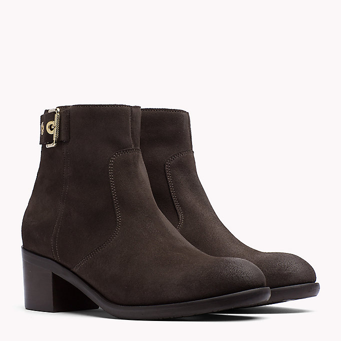 TOMMY HILFIGER Suede Ankle Boot - MIDNIGHT - TOMMY HILFIGER Shoes - main image