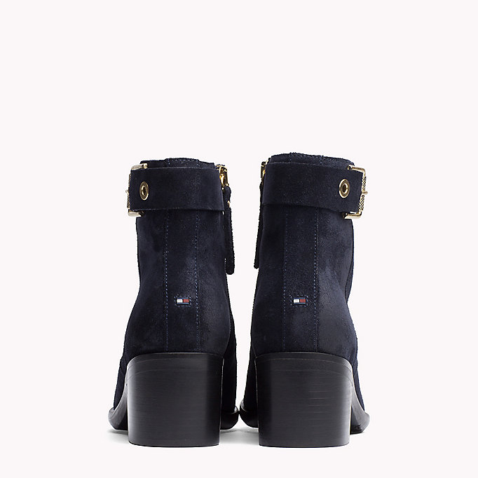 TOMMY HILFIGER Suede Ankle Boot - BLACK - TOMMY HILFIGER Shoes - detail image 2