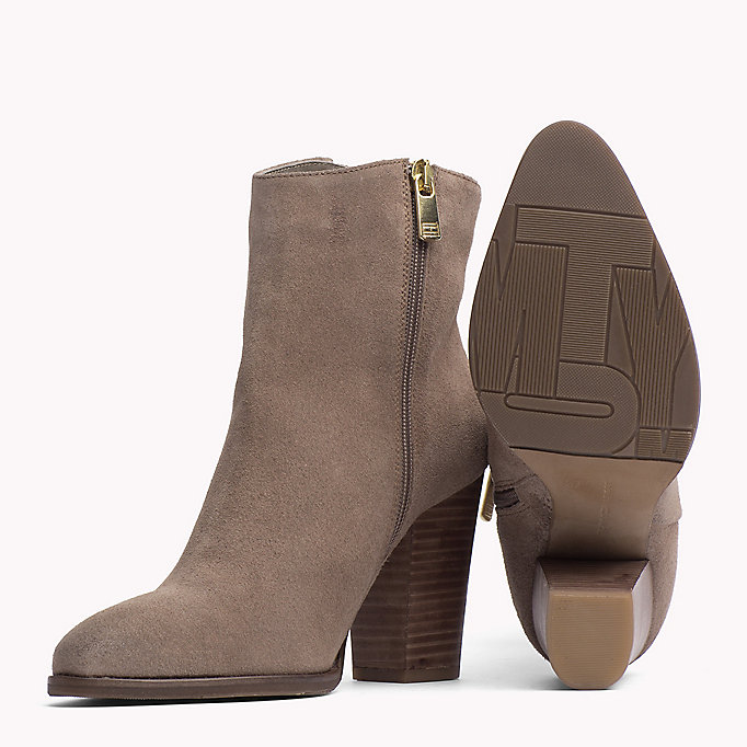 TOMMY HILFIGER Suede Ankle Boot - DECADENT CHOCOLATE - TOMMY HILFIGER Shoes - detail image 1