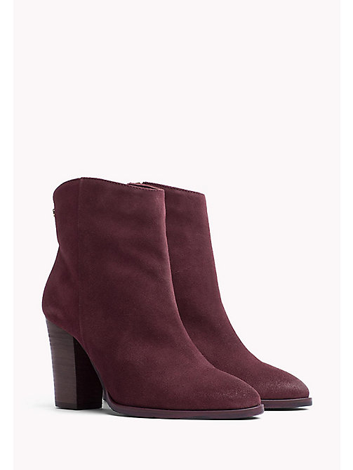 TOMMY HILFIGER Suede Ankle Boot - DECADENT CHOCOLATE - TOMMY HILFIGER Shoes - main image