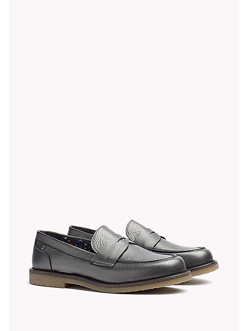 TOMMY HILFIGER Metallic Leather Shoe - DARK SILVER - TOMMY HILFIGER Shoes - main image