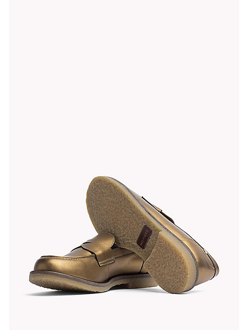 TOMMY HILFIGER Metallic Leather Shoe - DARK GOLD - TOMMY HILFIGER Shoes - detail image 1