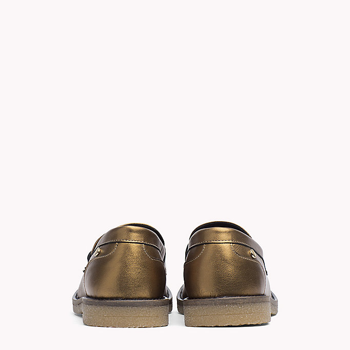 TOMMY HILFIGER Metallic Leather Shoe - DARK SILVER - TOMMY HILFIGER Shoes - detail image 2