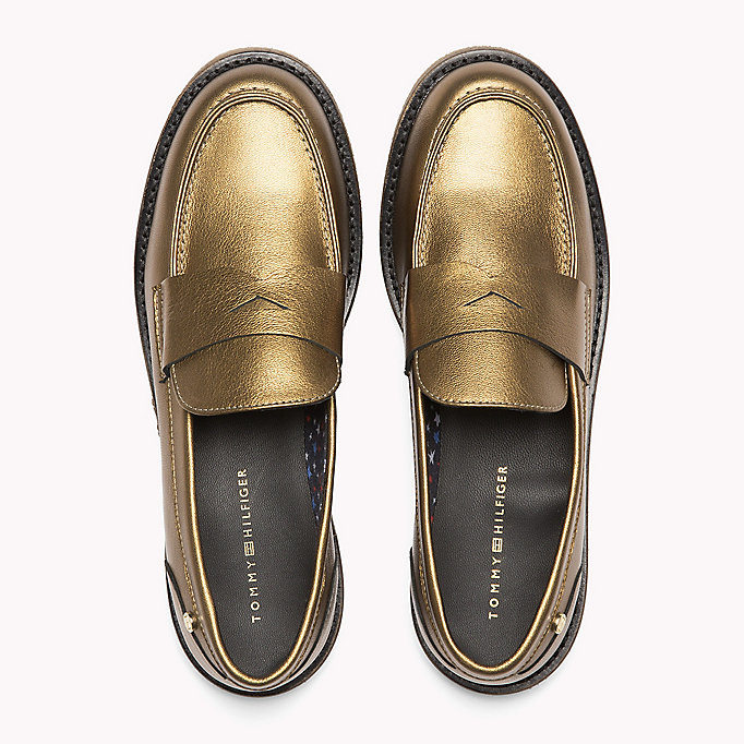 TOMMY HILFIGER Metallic Leather Shoe - DARK SILVER - TOMMY HILFIGER Shoes - detail image 3
