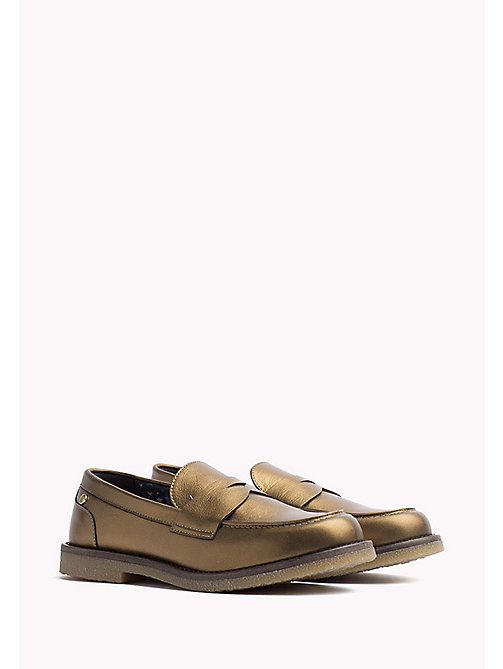 TOMMY HILFIGER Metallic Leather Shoe - DARK GOLD - TOMMY HILFIGER Shoes - main image