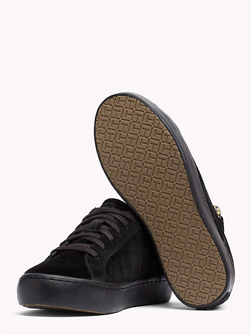 TOMMY HILFIGER Zipped Velvet Trainers - BLACK -  Trainers - detail image 1