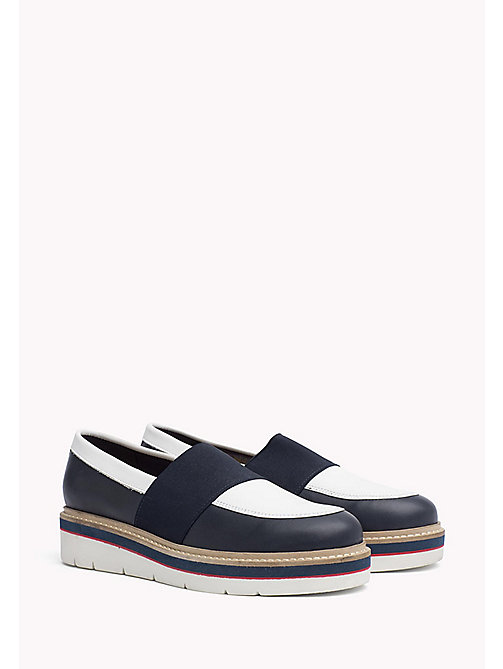 TOMMY HILFIGER Leather Loafer - TOMMY NAVY - TOMMY HILFIGER Shoes - main image