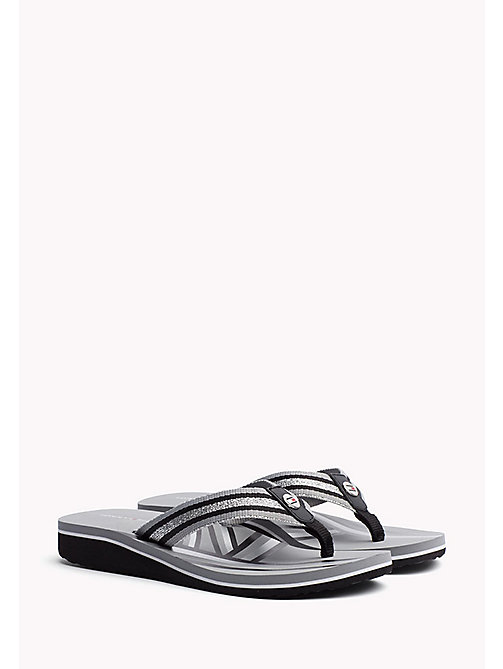TOMMY HILFIGER Athletic Flip Flop - BLACK - TOMMY HILFIGER Best Sellers - main image