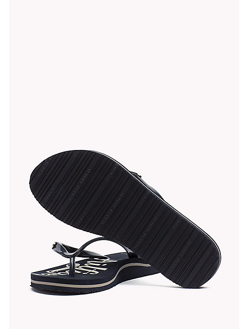 TOMMY HILFIGER Glossy Sandals - MIDNIGHT - TOMMY HILFIGER Best Sellers - detail image 1