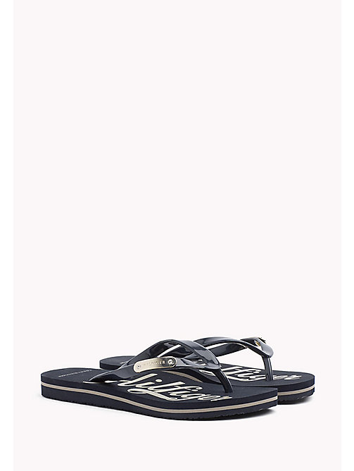 TOMMY HILFIGER Glossy Sandals - MIDNIGHT - TOMMY HILFIGER Best Sellers - main image