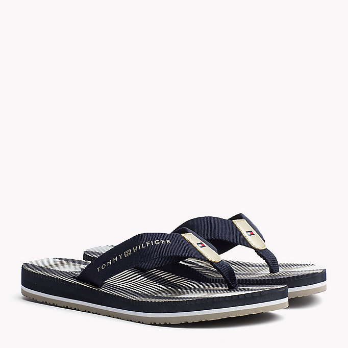 TOMMY HILFIGER Athletic Flip Flop - TANGO RED - TOMMY HILFIGER SHOES - main image