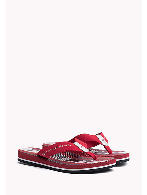 TOMMY HILFIGER Athletic Flip Flop - TANGO RED - TOMMY HILFIGER Flip Flops & Sliders - main image