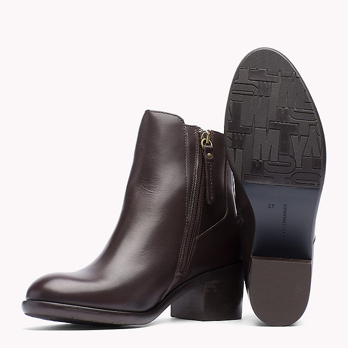 TOMMY HILFIGER Leather Ankle Boot - BLACK - TOMMY HILFIGER Shoes - detail image 1